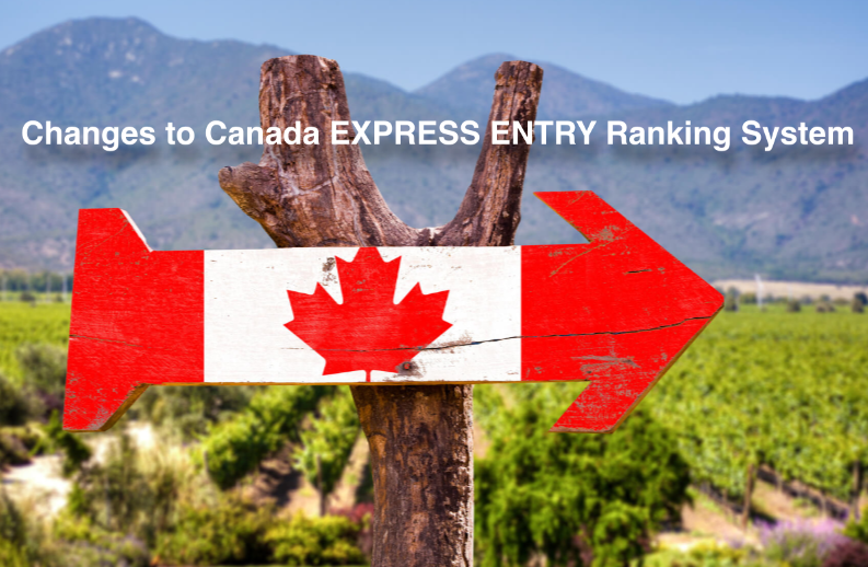 Changes to Canada EXPRESS ENTRY Ranking System