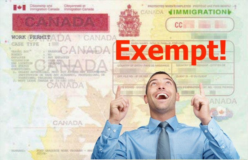 How to get an Exempt from a Work Permit ?