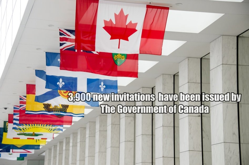 A new invitation of approximately 3,900 invitations has been issued by The Government of Canada